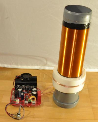 24V SSTC conventional (no SMD) Solid State Tesla Generator